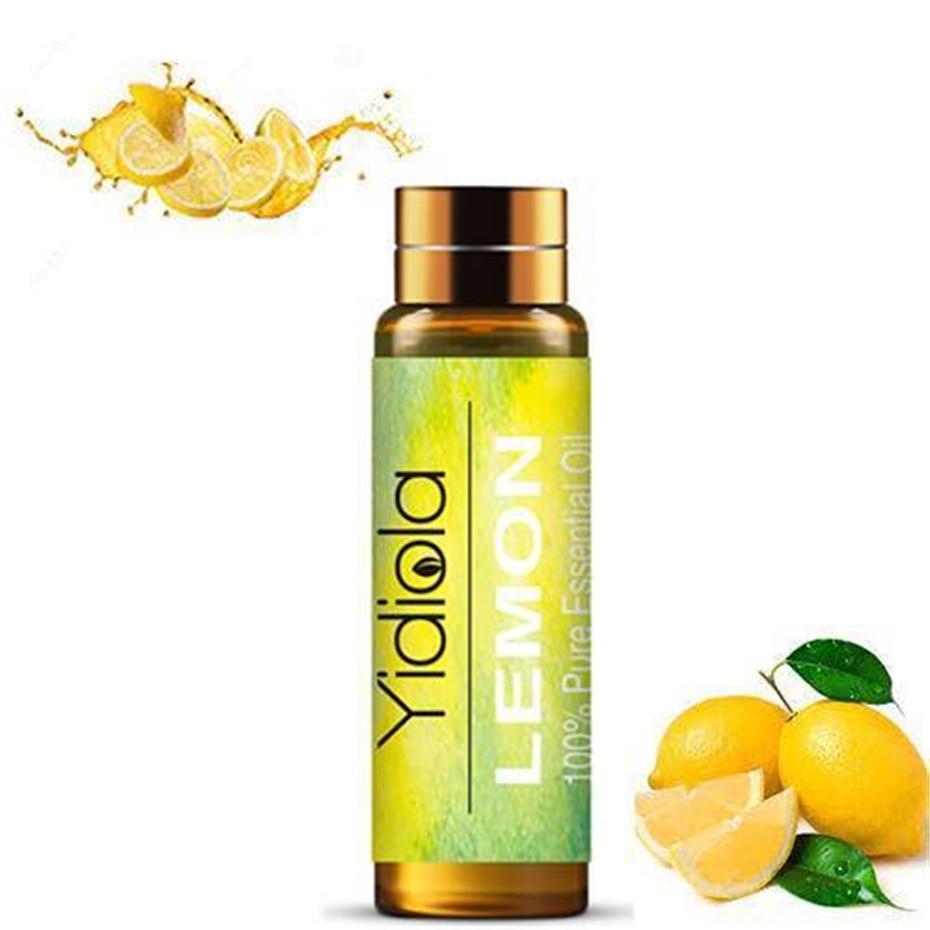 Yidiola 10ml Lemon Aromatherapy Essential Oil Pure Essential Oils Humidifier Diffuser Lemongrass Air Fresh Massage Aromatic Oil