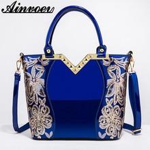 Ainvoev sac à main femmes brodé brillant sac à bandoulière sac à main femme luxe sacs à main femmes laque PU sacs en cuir pour les femmes