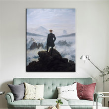 Wanderer Above The Sea of Fog Canvas Painting Famous Art Posters and Prints Cuadros Wall Art Pictures for Living Room Home Decor