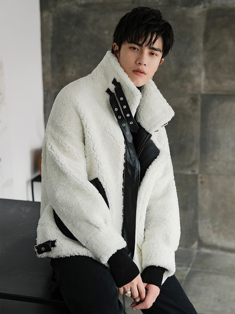 Men's Real Fur Autumn Winter Natural Sheep Shearling Jacket Luxury Coat Men Clothes 2020 Genuine Leather Jackets 18154