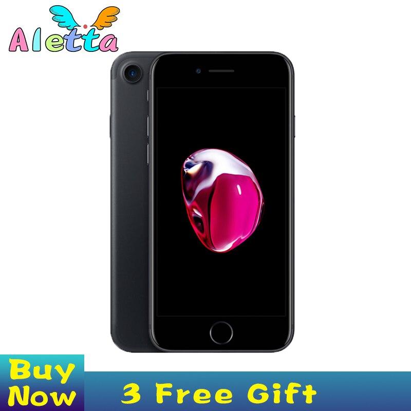Desbloqueado apple iphone 7 rom 32gb/4.7 gb/128gb da identificação do toque de 256 polegadas smartphone a10 quad-core apple pay