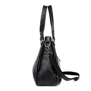 Image 3 - Damska torebka z prawdziwej skóry duża skórzana projektant duże torby z bawełny dla kobiet 2019 luksusowa torba na ramię znanych marek torebki