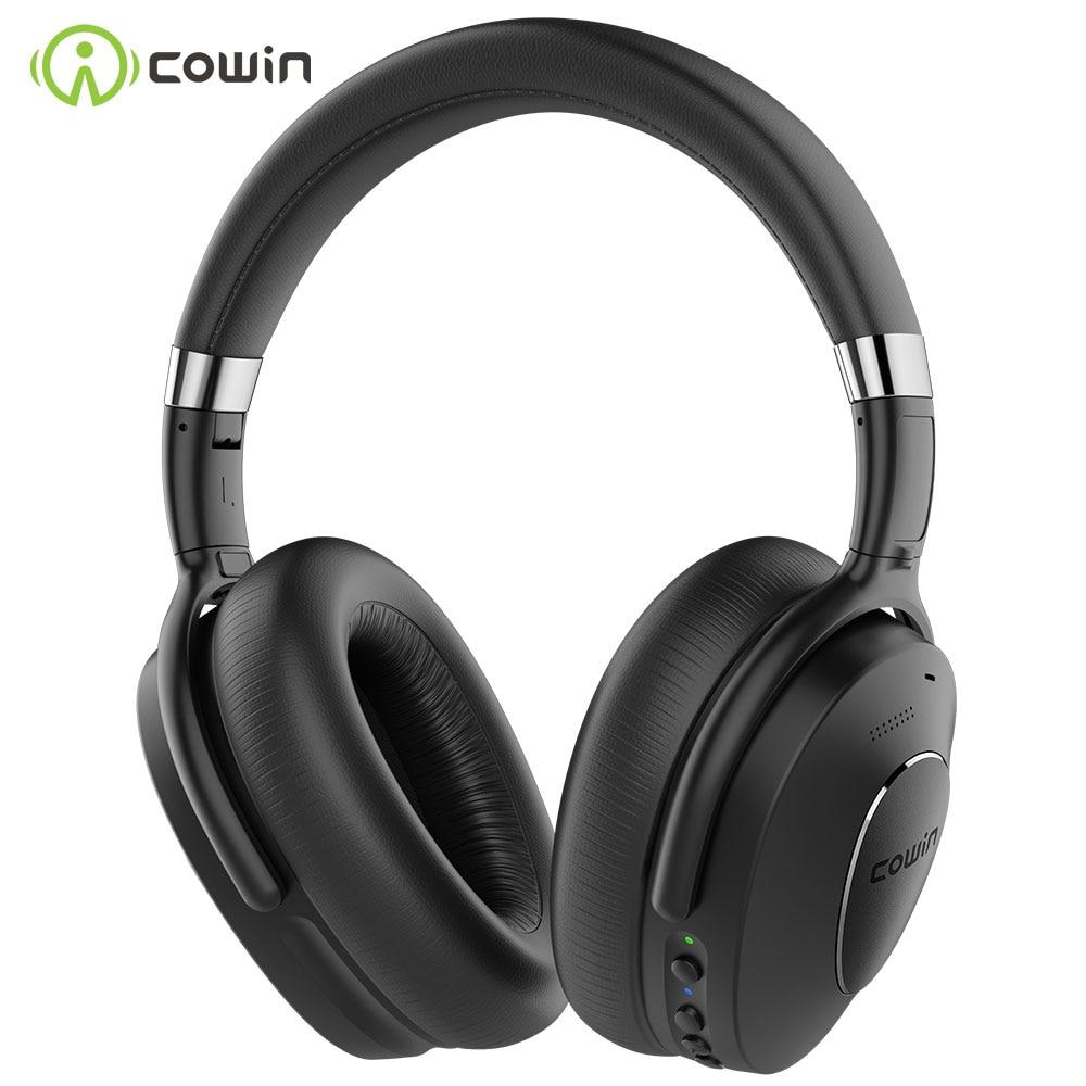 COWIN ANC SE8 наушники с активным шумоподавлением, Bluetooth наушники, беспроводная гарнитура с микрофоном SBC и AAC audio codec