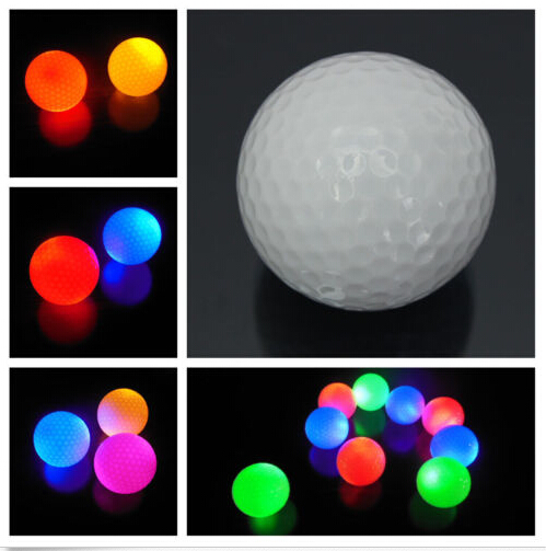1Pc New Portable Night Vision Light-up Flashing Night Light Glowing Fluorescence Golf Balls Golfing Wholesale