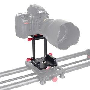 Image 4 - ZH7 للطي Z نوع إمالة ترايبود رئيس فليكس Z عموم لكانون نيكون سوني DSLR كاميرا المتزلجون الإفراج السريع لوحة الألومنيوم أعلى جودة