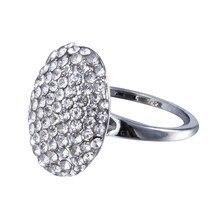 Moda charme crepúsculo bella anel de cristal réplica noivado anel de casamento jóias vale filme jóias tamanho 6-14
