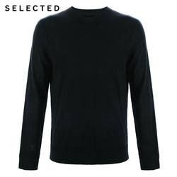 SELECTED 100% Wool Sweater Italian Merino V Collar Knit Clothes Men's Lightweight Knitwear Pullovers S | 418424501 5