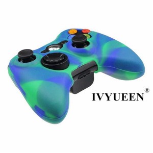 Image 4 - IVYUEEN Camo Protective Skin for Microsoft Xbox 360 Wired / Wireless Controller Silicone Case for X Box 360 Controle Cover