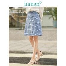 אינמן חורף ספרותי כיס אונליין Slim נקודת נשים בינוני חצאית