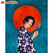 Ruopoty 60x75 см Набор для рисования по номерам длинные волосы