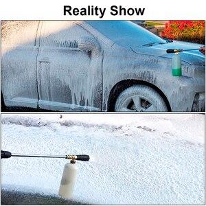 """Image 5 - Pistola de espuma de alta presión de 1/4 """"de liberación rápida, pistola de espuma para nieve, Cañón de espuma para lavadora de coche"""