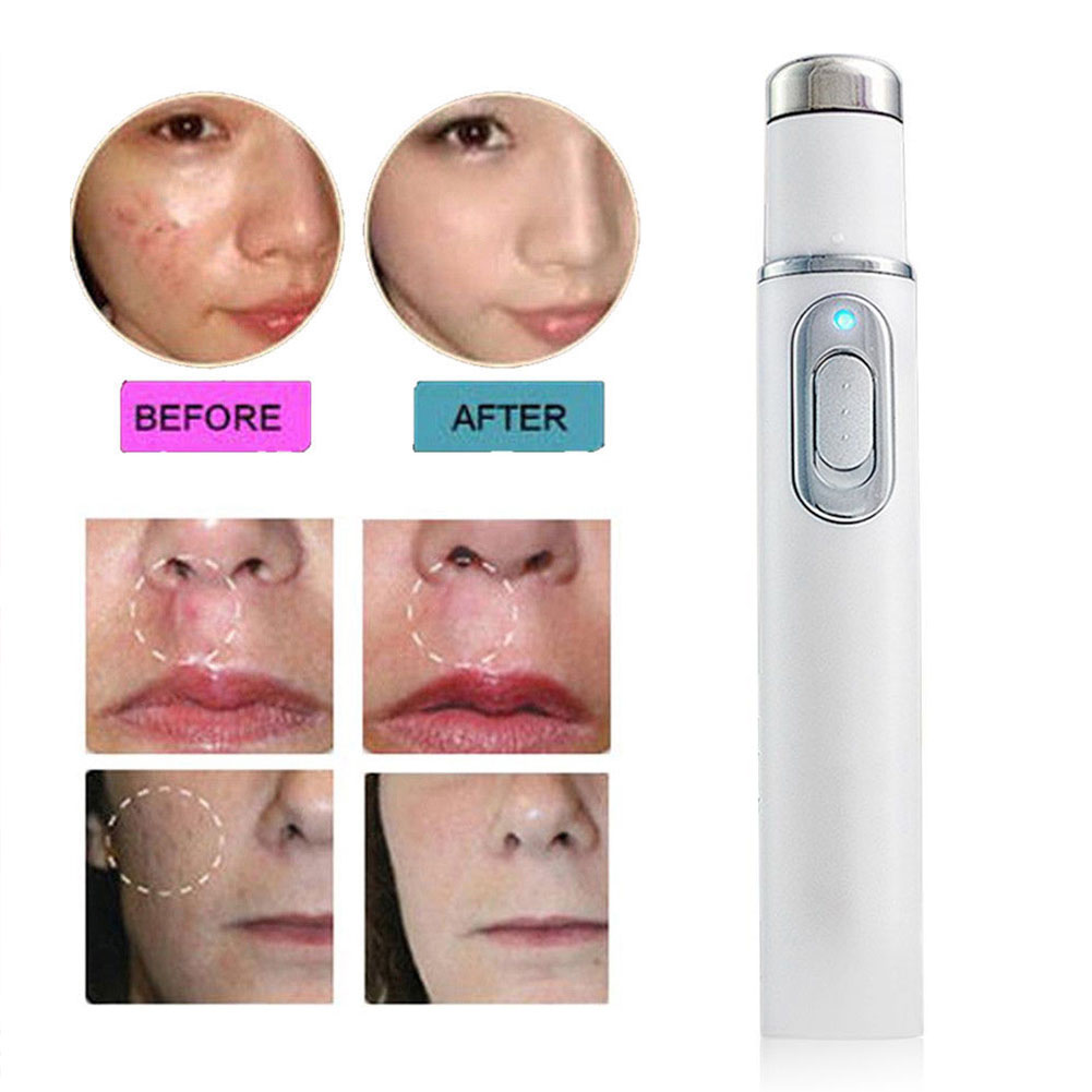 Face Skin Care Tools Scar Remover Acne Laser Pen Wrinkle Removal Portable Durable Blue Light Massage Soft Therapy KD-7910