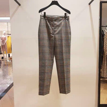 England style womens palid ninth pants 2019 Fall/winter high-waist straigth-leg A813