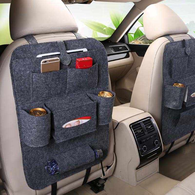 1PCS car universal seat storage bag auto parts for Skoda Octavia Fabia Rapid Superb Yeti Roomster