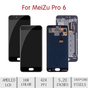 Image 2 - Pantalla LCD ORIGINAL de 5,2 pulgadas para MEIZU Pro 6 MONTAJE DE digitalizador con pantalla táctil para Meizu Pro 6, reemplazo de Marco M570Q M570 M570M
