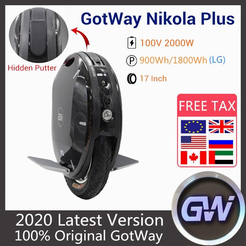 2020 GotWay Nikola Plus rower elektryczny 17 Cal 2000W silnik skuter utrzymujący równowagę 100V 1230WH 1800WH 1845WH jednokołowiec skuter