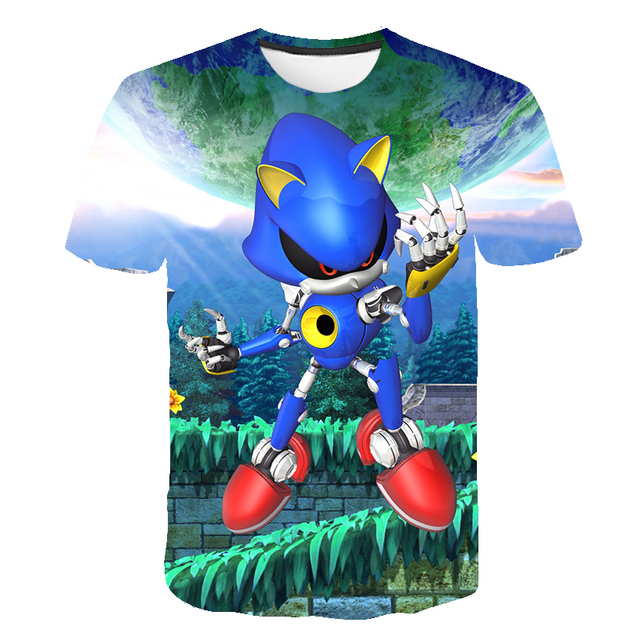 New Fashion Lovely Baby Clothes 3d Cartoon Sonic The Hedgehog Game Print T Shirts Costume Boys T Shirt Girls Summer Kids Clothes T Shirts Aliexpress