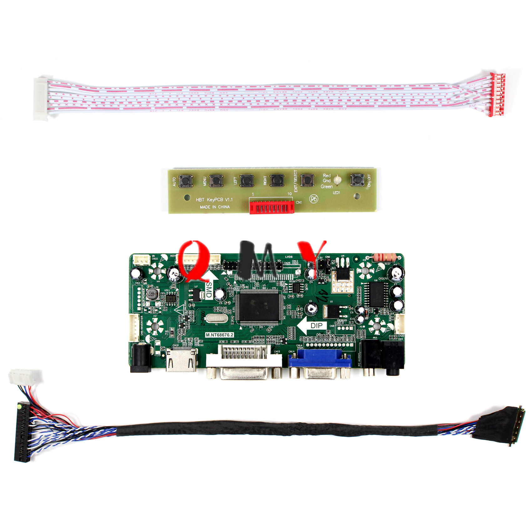 HDMI+DVI+VGA LCD Lvds Converter Driver Board Controller Kit for HSD121PHW1-A03