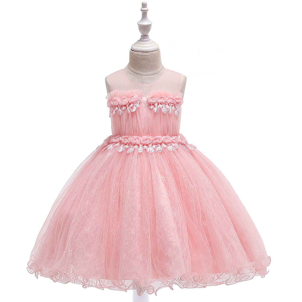3-8T Mesh   Flower   Fringed Princess   Dress   Ball Gown   Flower     Girl     Dresses   For Wedding