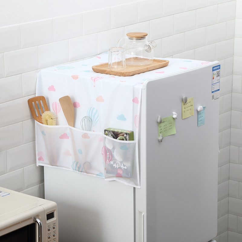 Fridge Dust Cover Multi-Purpose Washing Machine Top Cover For Home Decoration Waterproof Refrigerator Covers Kitchen Products