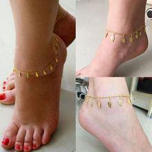 Браслет на ногу Женский ювелирное украшение в виде листьев золотого