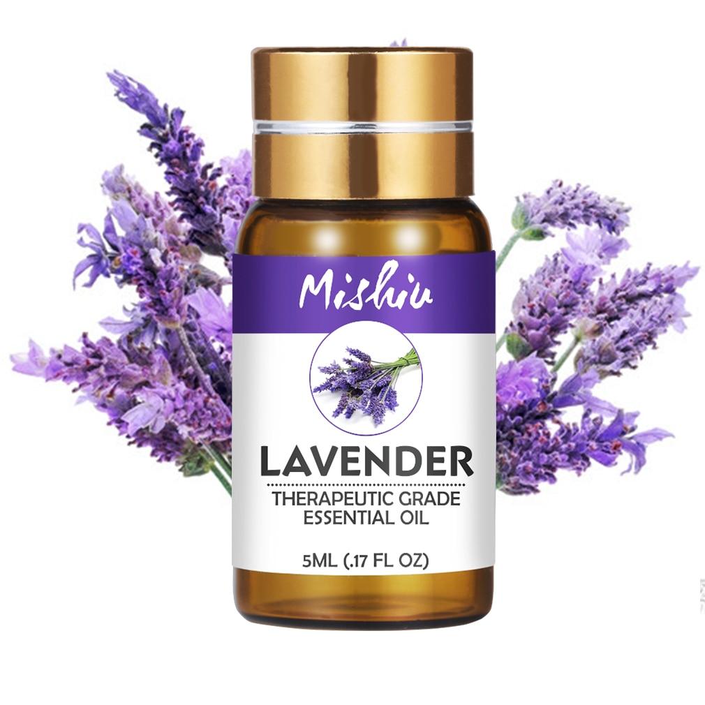 Mishiu Natural Essential Oil Water-soluble Lavender Tea Tree Peppermint Eucalyptus Lemongrass Rosemary Lemon Aroma Oil 5ML