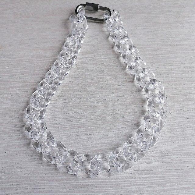 Ожерелье цепочка fishsheep из прозрачного акрила для мужчин