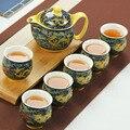Chinesische Keramik Tee-Set Kung Fu Porzellan Tee Tasse Topf Set Drachen Teekanne Teetasse Kungfu Teaset Puer Oolong-Tee Zeremonie teegeschirr