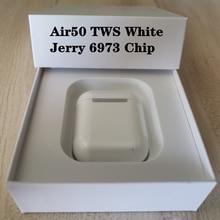 Новые Air50 TWS портативные беспроводные Bluetooth-наушники, гарнитура с сенсорным управлением, стереонаушники с беспроводным зарядным устройство...