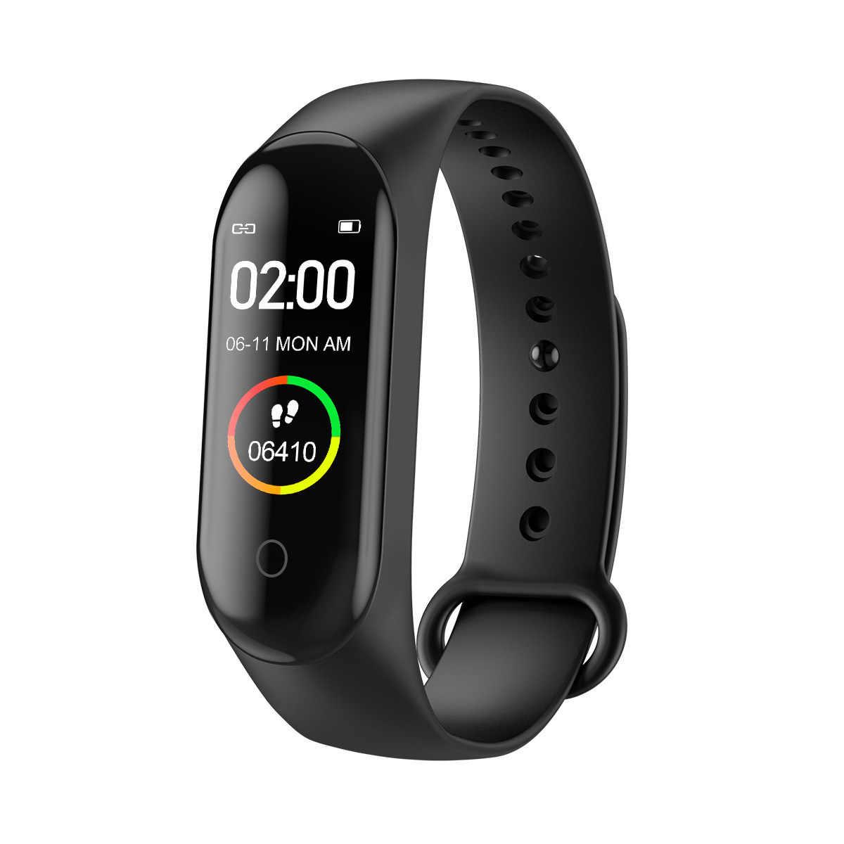M4 Smart Band Gelang Kebugaran Tracker Kesehatan Tekanan Darah Denyut Jantung Bluetooth Olahraga Gelang Smartband