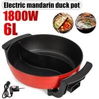 6L Electric Hot Pot 1800W Smokeless Non Stick Home Electric Shabu Hot Pot 5 Temperature Aluminum Kitchen Appliance AU Plug