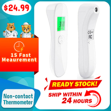 цена на Baby Infrared Electronic Thermometer Without Battery LCD Digital Non-contact IR Infrared Thermometer Forehead Temperature Meter