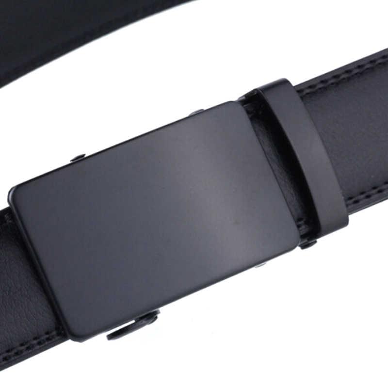 High Quality Belt Men Belt Automatic  Leather Luxury Black Belt Men's Belts Automatic Buckle Cummerbunds Male