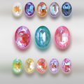 Овальная форма, цвет мокко, Необычные камни, кристаллы, задний стеклянный стразы, Свободные Стразы, блестящие синие искусственные украшения
