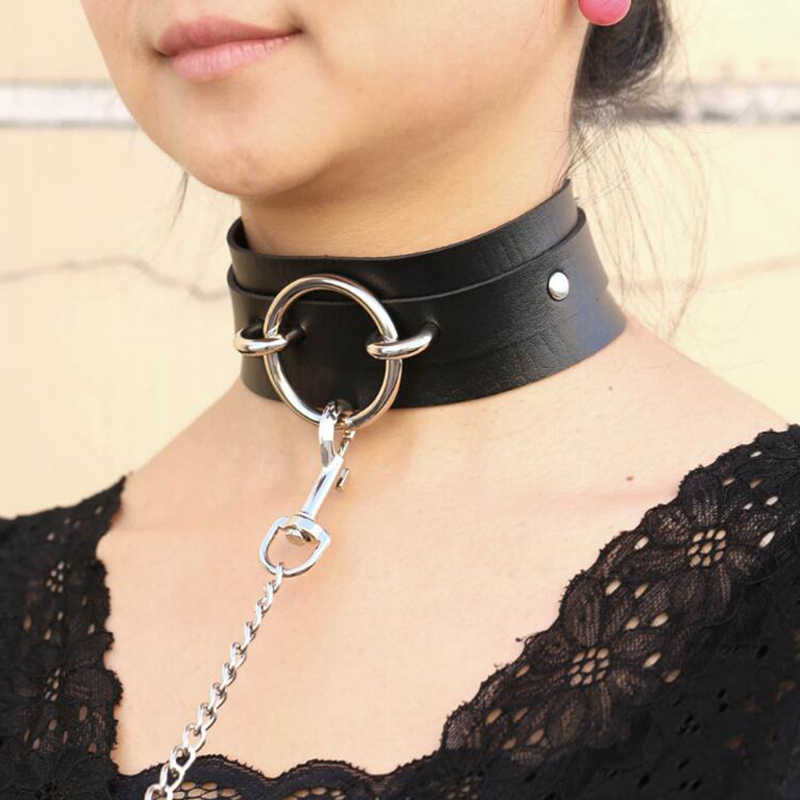 Sexy punk Choker Collar  leather choker Bondage cosplay Goth jewelry women gothic necklace  Harajuku accessories