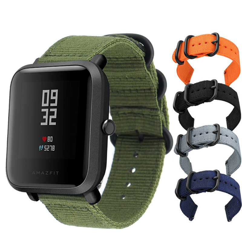 Nylon Soft Strap for Xiaomi Huami Amazfit Bip BIT Lite Youth Smart Watch Wrist Bracelet for Amazfit Bip Watchband 20mm Strap