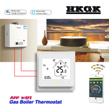 APP Works with Alexa Google home Gas Boiler Thermostat Switch WIFI contact Valve radiator for Dry contact amp Passive contact cheap HESSWAY 002GCLW 49°C Under Temperature Controller Digital Indoor Charger Embedded 2 0 - 3 9 Inches Acrylic 60mm 220VAC 50 60HZ