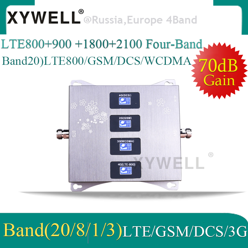 LTE800 900 1800 2100mhz Cell Phone Booster Four Band Mobile Signal Amplifier 2G 3G 4G LTE Cellular Repeater LTE GSM DCS WCDMA