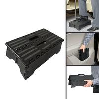 4 inch Portable Plastic Folding Step Up Stool Car Height Boost Elder Adult Kid Child get on car Small bench in the living room