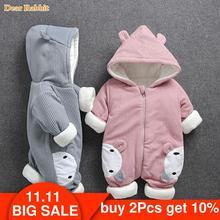 2020 חדש רוסיה תינוק תלבושות rompers בגדי קר חורף ילד ילדה בגד לעבות חם נוח טהור כותנה מעיל מעיל ילדים