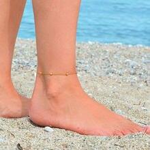Браслеты на ногу ustar женские анклеты из нержавеющей стали