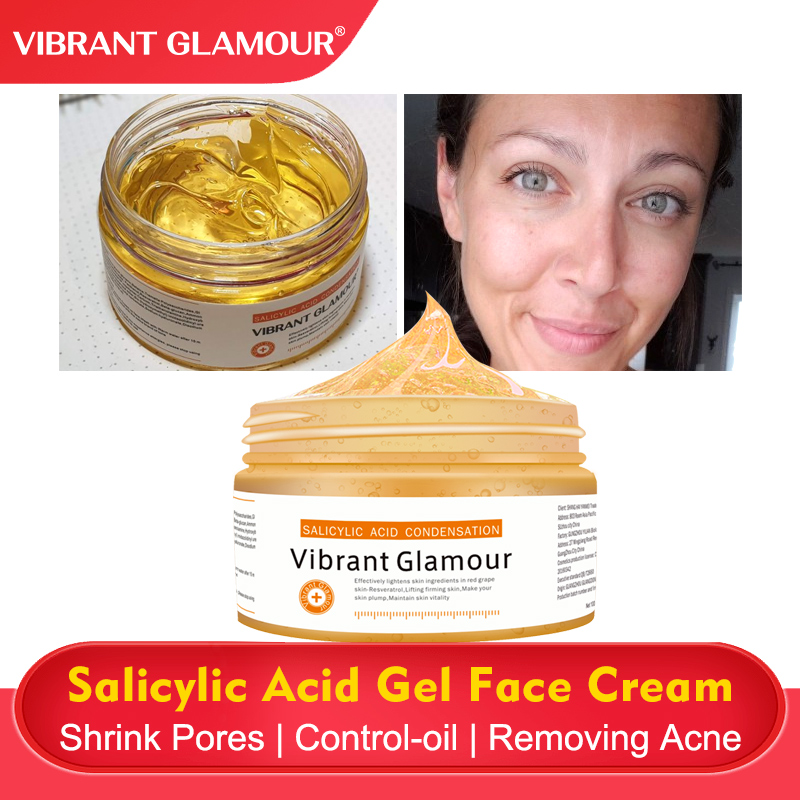 VIBRANT GLAMOUR Salicylic Acid Perfecting Gel Face Cream Face Mask Removing Acne Shrink Pores Moisturizing Control-oil Fcae Care