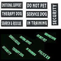 Apoyo emocional no PET placa parches para perro Chaleco con arnés para mascota mascotas perro de servicio en la formación de parche de seguridad perro de terapia