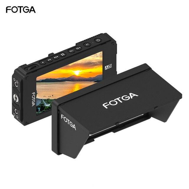 FOTGA Monitor de campo con pantalla táctil y placa de batería de doble NP F para 5D III IV A7 A7R A7S II III GH5