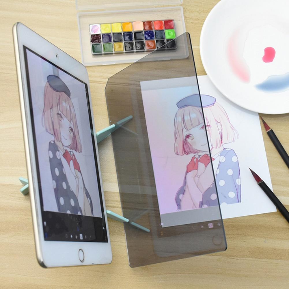 Картина зеркальная пластина изображения доска для рисования эскиз отражение затемнение кронштейн Трассировка копия стола проекционная доска плоттер