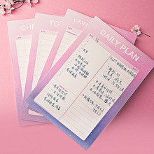 Cute Sky Series Memo Pad Desk Agenda Planner Notes Pad Check To Do List Daily Planner Office School Stationery zakka miditerranean sea wooden desk calendar desktop to do list daily planner book office desk supplies standing school