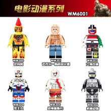WM6001 Single Sale Movie Mr.Incredible Michael J Scofield Godmars Kratos Plawres Sanshiro Building Blocks  Bricks Children Toys
