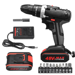 48V Electric Hammer Drill Cordless Drill Woodworking Tool Rechargeable Woodworking Drills  JA55