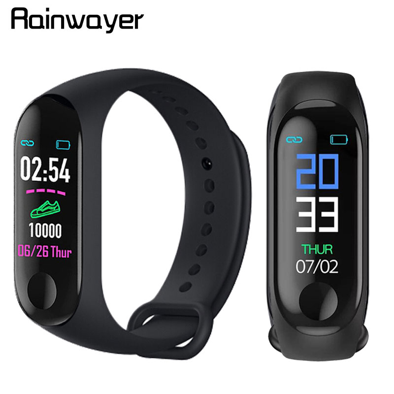 M3 Plus Smart Bracelet Heart Rate Blood Pressure Waterproof Bluetooth Watch Wristband Fitness Tracker M3 Pro Smart Watch A2
