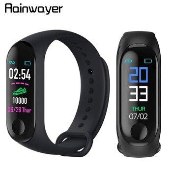 Pulsera inteligente M3 Plus de pulso cardíaco y presión arterial, reloj resistente al agua con Bluetooth, pulsera Fitness Tracker M3 Pro Smart Watch A2